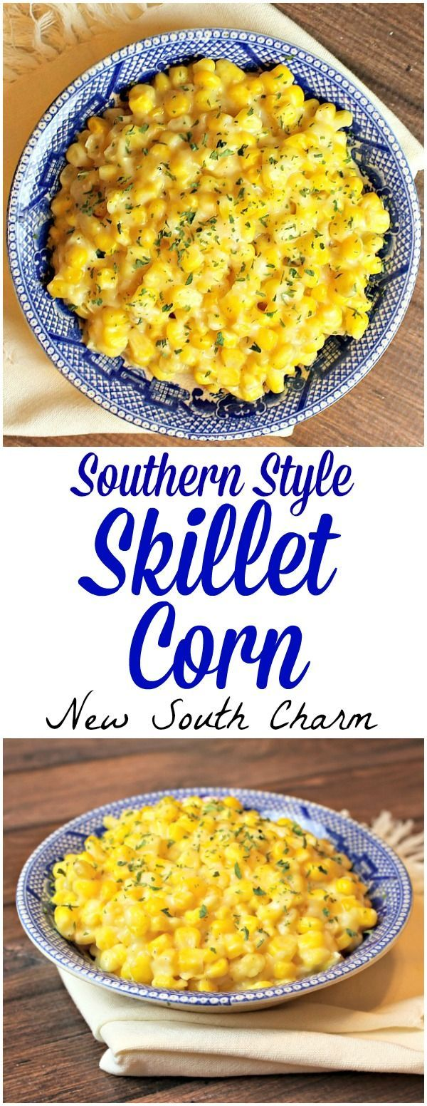 Southern Style Skillet Corn is the prefect easy side dish everyone will love.