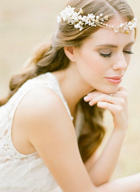 REIGN gold bohemian bridal headpiece