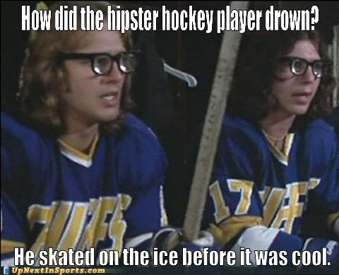 Sports and hipster joke combined? Yeah. Fantastic.