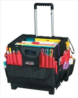 "Great organizational caddy for traveling teachers Site has recommendations to ""purge"" old classroom stuff"