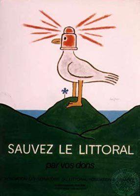 Raymond Savignac (1907-2002) - Sauvons le littoral (1989)