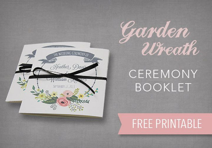 DIY Tutorial - Garden Wreath Wedding Ceremony Booklet from Download and Print