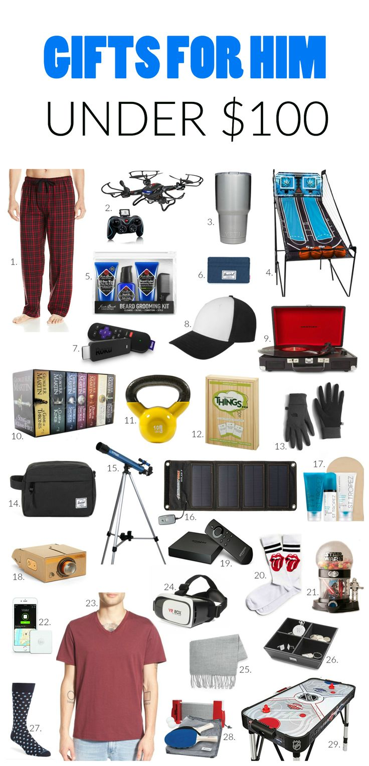55+ gift ideas for the men in your life! | A list of the best gifts for him for under $100! A list of unique and cool gifts for your dad, brother, grandfather, cousin, friend, co-worker etc!