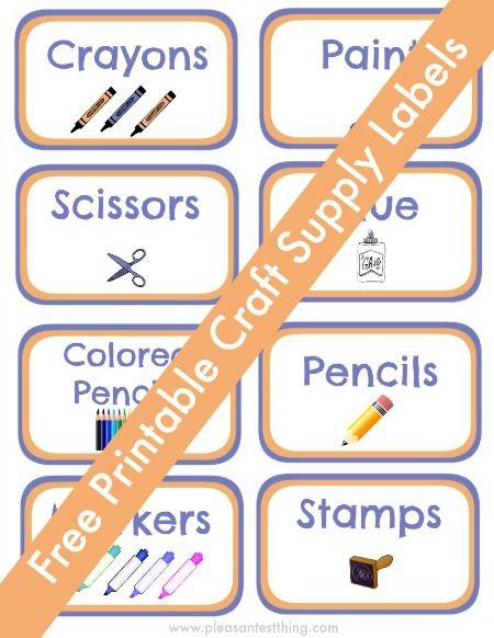 Practice organization - plus Free printable craft supply labels!