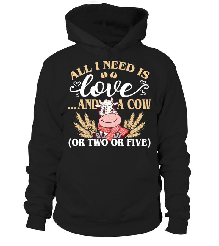 All i need is love and a Cow  #gift #idea #shirt #image #lovemypet #dog #cat