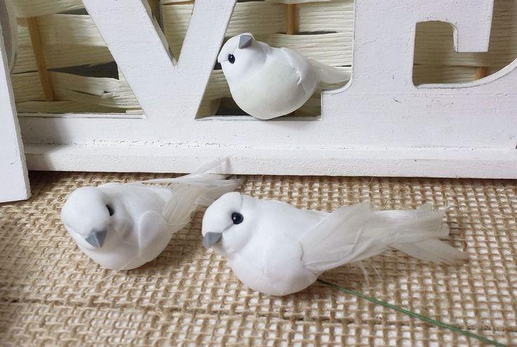 12 Tauben am Draht weiße Taube  Liebe Hochzeit Tortenfigur Dekoration in Möbel & Wohnen, Hochzeitsdekoration, Dekoration | eBay!