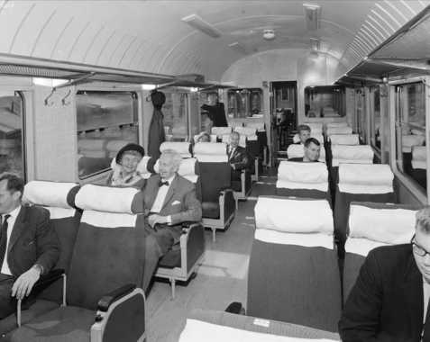 Train from the Bergen-Oslo service in the 1960's