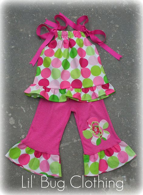 Strawberry Shortcake Pillow Case Top and Pant by LilBugsClothing, $39.99