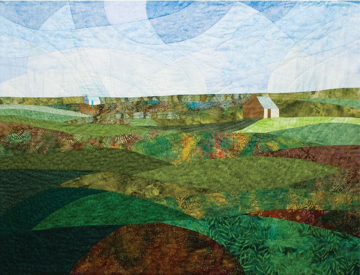 Bothies on the Moor, Summer by Effie Galletly in Quilters Newsletter February/March 2016
