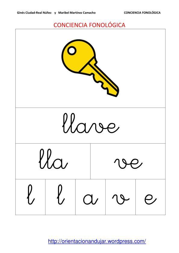 cuadernillo conciencia fonologica - Buscar con Google