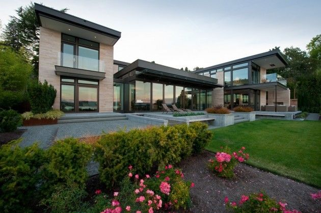 The washington park hilltop residence located in seattle - Architecture contemporaine residence parks ...