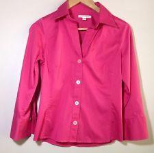 Banana Republic Womens Shirt Size M Stretch Long Sleeve Button Down Fuschia | eBay