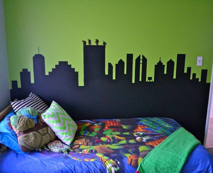 Tmnt And Beds On Pinterest Teenage Mutant Ninja Turtle Wall Mural ...