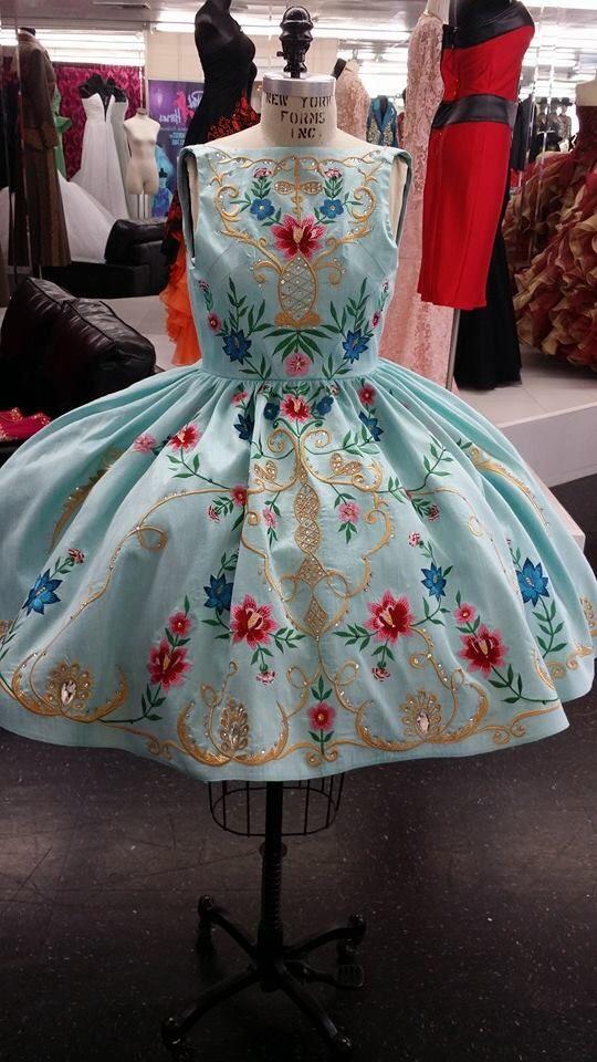 Another girl dress! designed by Diego Medel