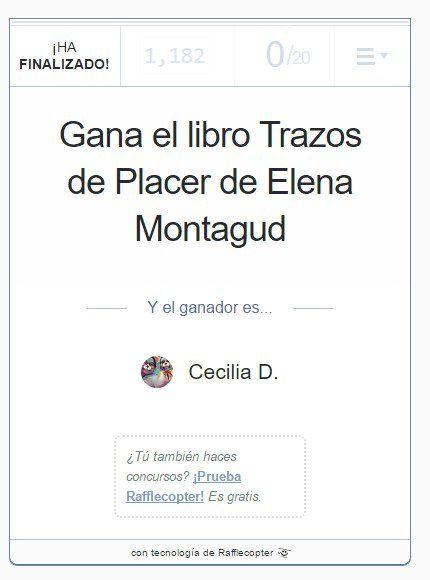 #ConcursoDerrapero ¡Ya tenemos ganadora! 🎁📕🐤 ¡¡¡@cechu82 ganaste el libro Trazos de Placer firmado y toqueteado por @ElenaMontagud!!! 👏🏽🎉🎊