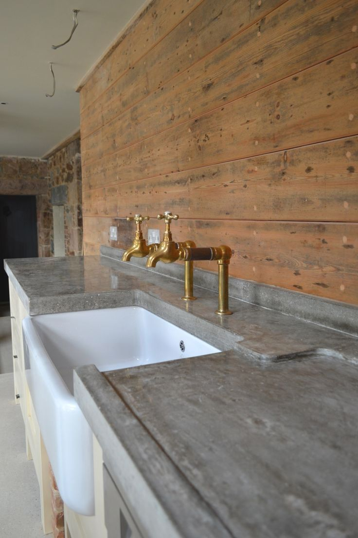 30 Great Examples Of Concrete Kitchens Polished Concrete Kitchen Concrete Kitchen Concrete Bench