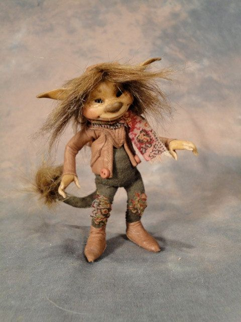 Tiny Troll Armatured Figure by Wendy Froud by froud on Etsy