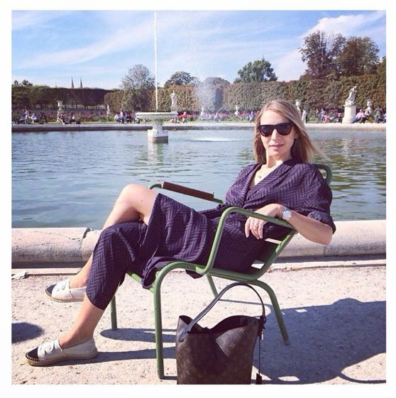 Look fabulous in Day Manor robe, from our AW14 collection, like fashion editor Gertrud from Eurowoman.