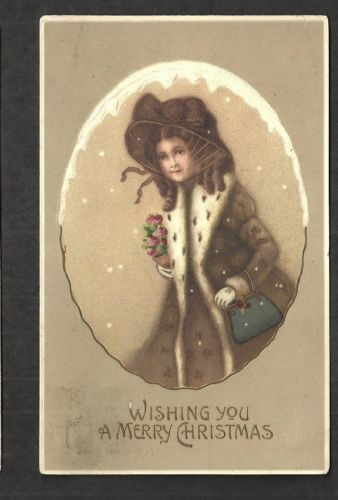 M864-ANTIQUE-POSTCARD-WISHING-YOU-A-MERRY-CHRISTMAS-INTL-ART-PUBL-GERMANY