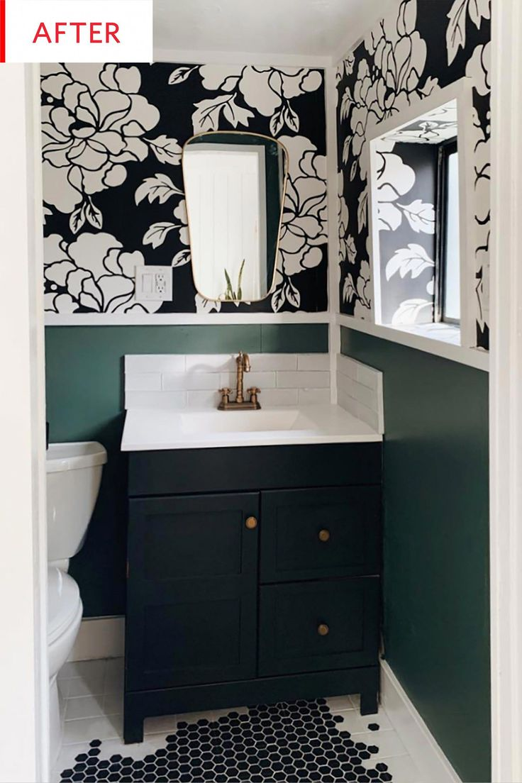 Before & After: This $400 Bathroom Redo Has a Genius Way to Cover Textured Walls…