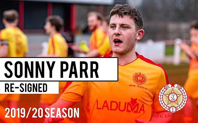 Signing Announcement We Are Pleased To Confirm That The Ever Dependable Sonny Parr Has Signed On For The New Season Welcom Liverpool Team Forming Announcement
