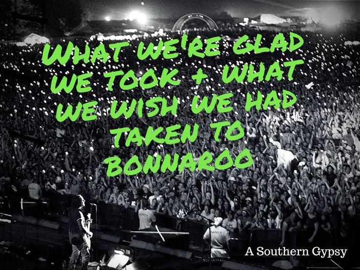 Things We're Glad We Took + Things We Wish We Had Taken to Bonnaroo