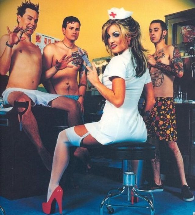 Blink will ALWAYS be one of my favorite bands, but this album cover tops that.. Since this nurse has been in prison for some them, ha.