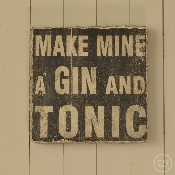 'Make mine a gin and tonic' Wooden sign  £39.95 #quote #sign #gift