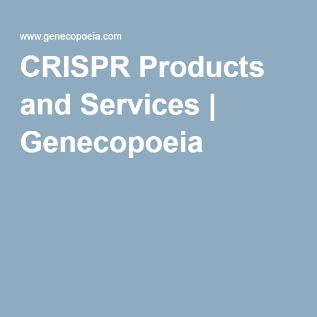 CRISPR Products and Services | Genecopoeia