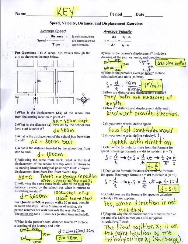 Acceleration Problems Worksheet Answer Key With Images Word