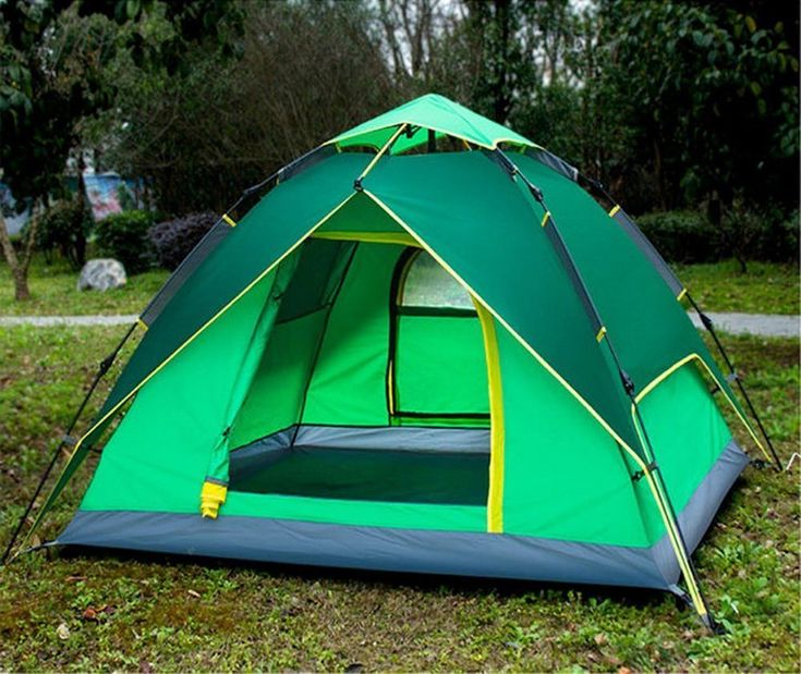 Camping Tent 3-4 Persons Family Automatic Pop Up  Hiking Backpacking Festivals