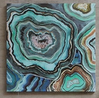 Agate Stone Slices Abstract Contemporary Wall Art