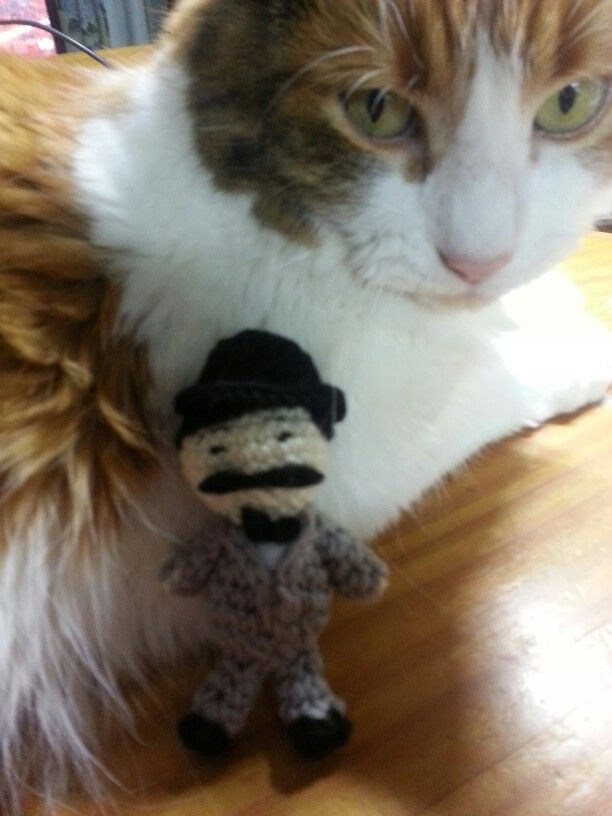 Poirot and Callie. Poirot made by my friend Louise