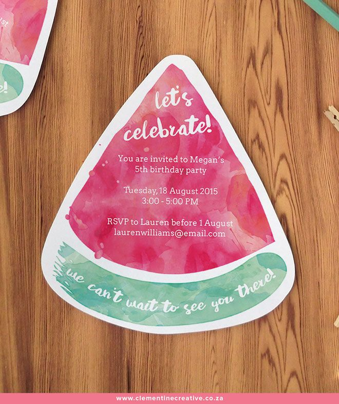 free printable watermelon party invitations