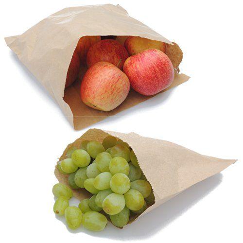 "100 x Brown Paper Food/Sweet/Mushroom Bags - 7.0"" x 7.0"": Amazon.co.uk: Kitchen & Home"