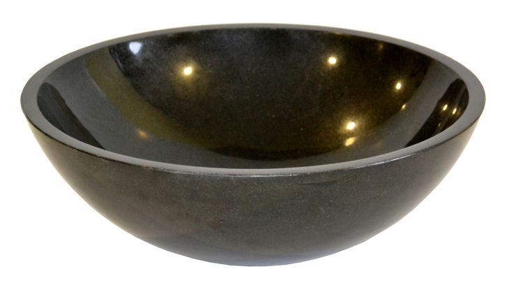 Umywalka nablatowa Indian Black Kolor czarny Rodzaj kamienia granit możliwość podklejenia pod blat