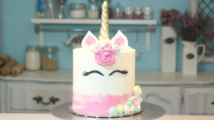 Pastel de Unicornio / Unicorn Cake / DANI FLOWERS