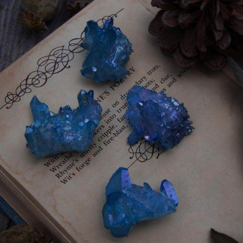 """mistylines: """" Aqua aura crystals"""