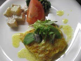 白身魚のムニエル♪カレーソース