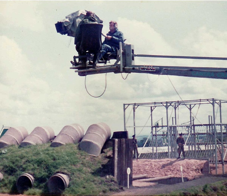 Camera crew with a view of the Krypton Factor Assault Course