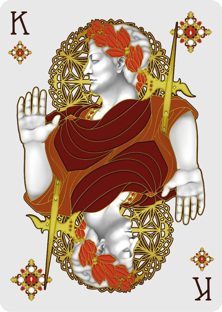Nouveau BIJOUX King of Diamonds - playing cards art, game, playing cards collection, playing cards project, cards collectors, design, illustration, card game, game, cards, cardist, cardistry, bijoux, jewelry