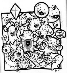 43 Best Images About Doodle Invasion Coloring Book On