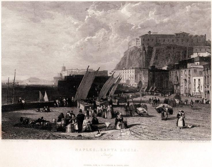 NAPOLI storica - Historic pics of NAPLES -Santa Lucia 1836