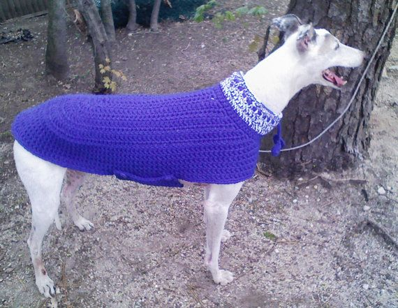Greyhound Dog Sweater IN A WEEKEND Crochet Pattern by AerieDesigns, $6.00