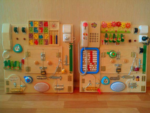 Ocupado a tablero, tablero sensorial, tablero ocupado niño - juguete para niños de 6 meses y hasta 5-7 años. Tableros de ocupado se convierte * coordinación * imaginación * perseverancia * habilidades de uso de cerraduras simples * finas habilidades motoras ENVÍO: 18-30 días ================================= Todos los productos en...