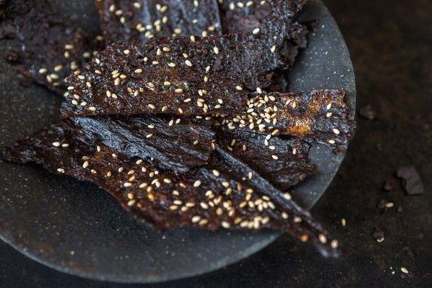 Reis-Chips mit Honig
