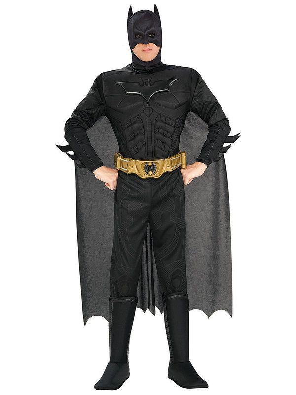 Batman Kostüm Superheld Lizenzware schwarz