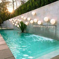 Resultado de imagen para piscina casa pequeña