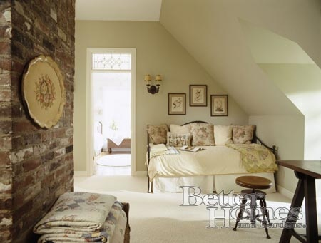 Dormered attic bedroom decor