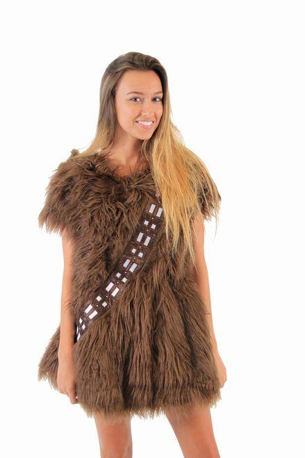 Star Wars I Am FURRY Chewbacca Chewie Juniors Brown Costume Skater Dress
